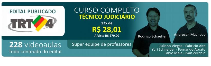 TRT4 - concurso p�blico curso t�cnico judici�rio